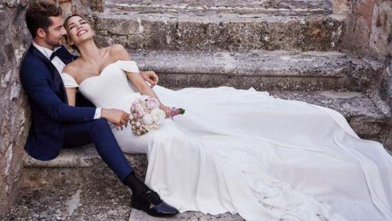 David Bisbal y Rosanna Zanetti posan después de su boda secreta