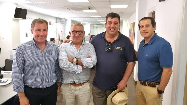 Juan Antonio Román, Antonio Zardoya, Vicente Cutanda y Carlos Arcaya