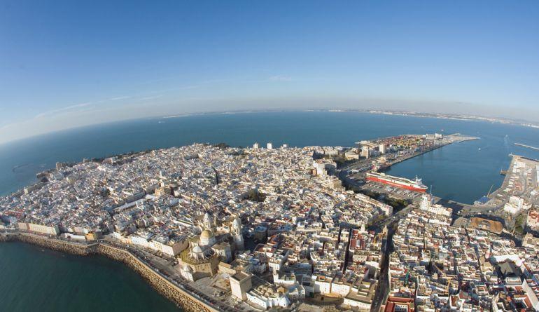 Fotografía aérea de Cádiz