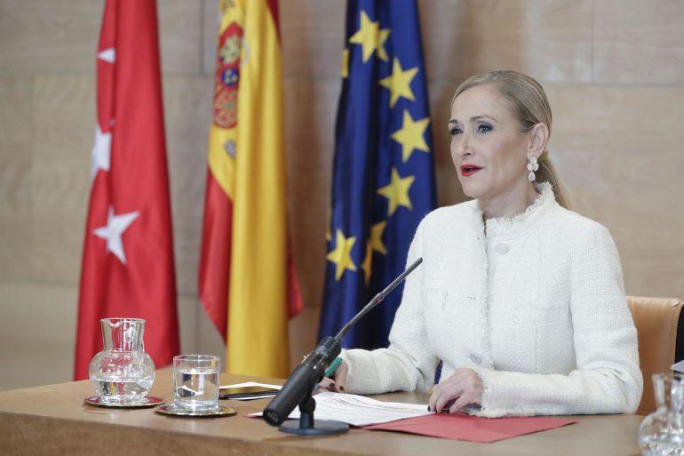 Cristina Cifuentes en una fotografía de archivo cuando era presidenta de la Comunidad de Madrid