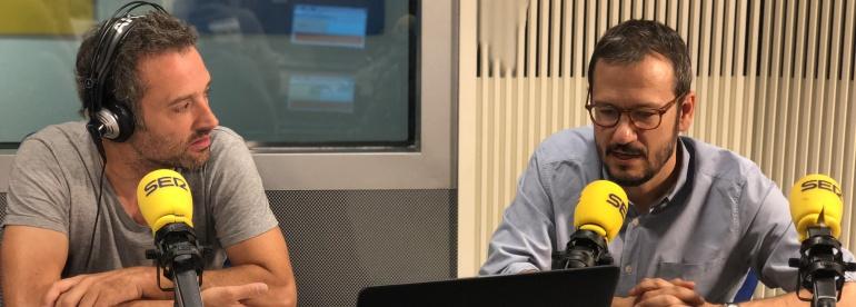 Daniel Guzmán y David Serrano durante la entrevista en A vivir Madrid