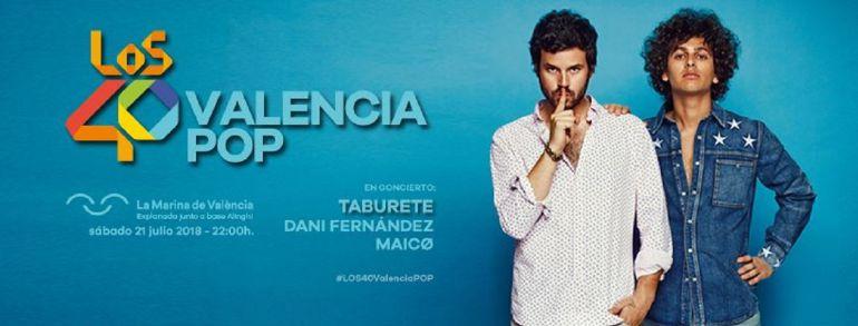 Concierto de Taburete, Dani Fernández y MAICØ en 'Los40 Valencia Pop'