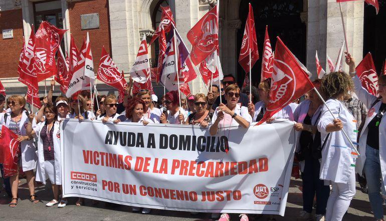 Imagen de los trabajadores en la movilización