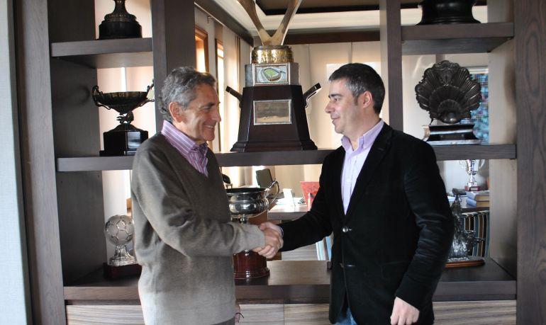 El presidente del Celta, Carlos Mouriño con Carlos Bermúdez
