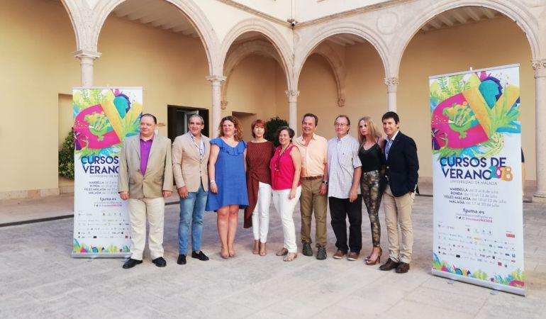 Responsables del Ayuntamiento y de la FGUMA en el Convento de Santo Domingo.