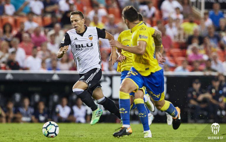 Maksimovic, con el Valencia ante Las Palmas.