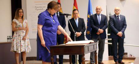 Imagen de la toma de posesión de Helena Caballero como nueva subdelegada del Gobierno en Valladolid