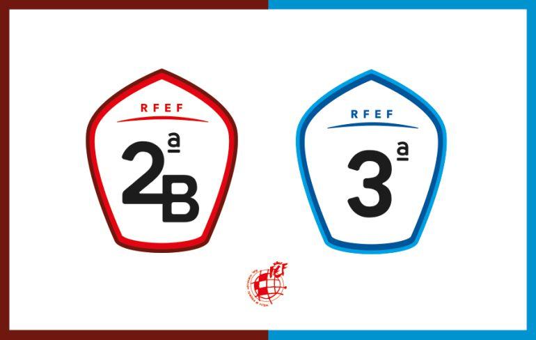 Los nuevos logotipos de Segunda División B y Tercera División.