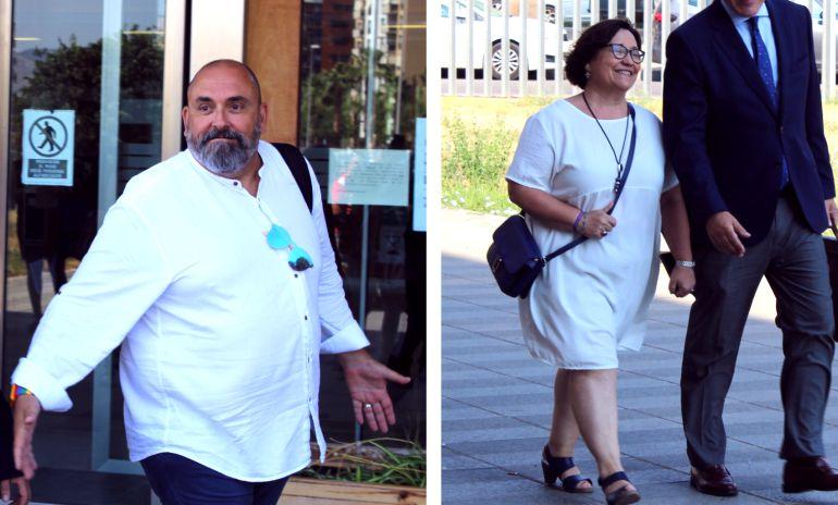El secretario autonómico de Empleo, Enric Nomdedèu, y la vicealcaldesa de Castellón, Ali Brancal