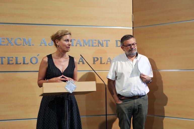 La alcaldesa de Castellón, Amparo Marco, junto al concejal de Gestión Municipal, Toni Lorenzo