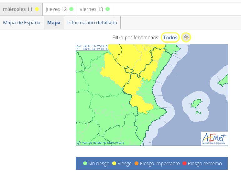METEOROLOGÍA: Alerta amarilla en el interior provincial por fuertes tormentas con posible granizo