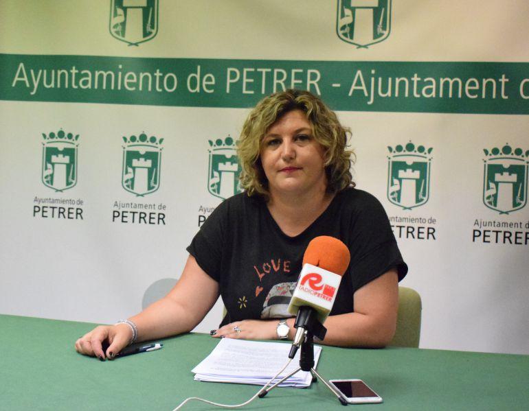 Silvia Rodriguez, concejala de Educación de Petrer