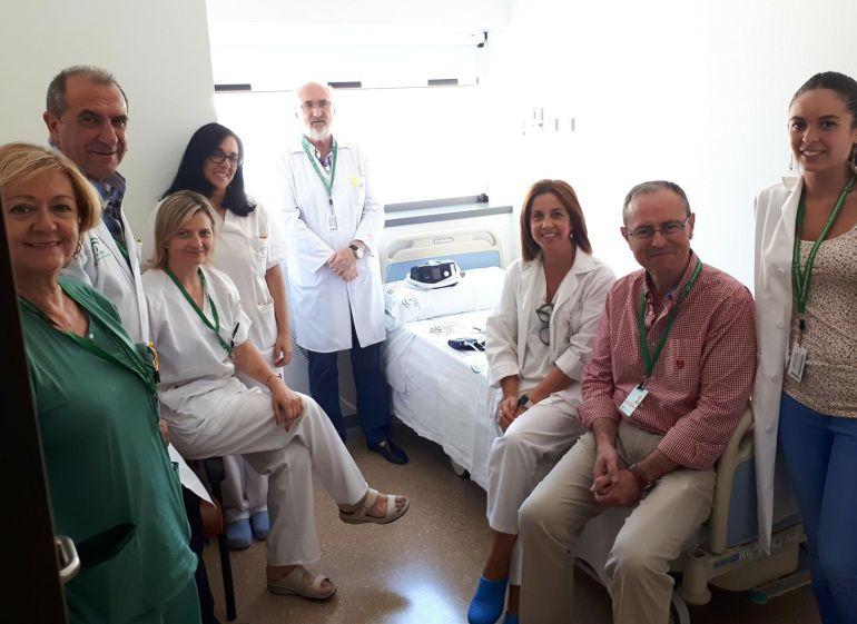Profesionales sanitarios de la Unidad de Trastornos Respiratorios del Sueño del Hospital Universitario San Cecilio