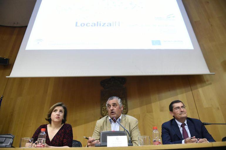 Sandra García, Javier Carnero y José Entrena