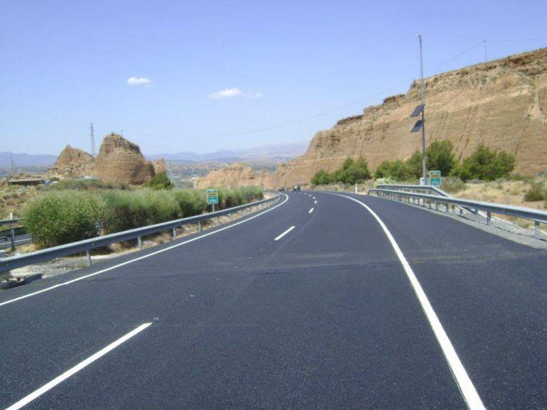 Estado final de la A92 entre Guadix y La Calahorra.