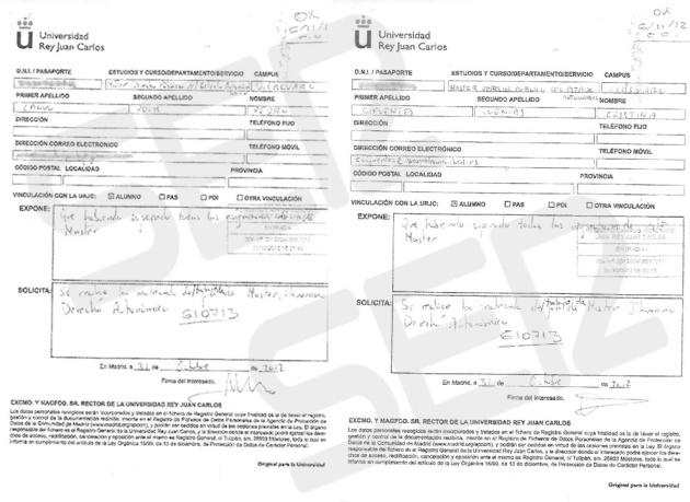 Nuevas pruebas del trato VIP que recibían alumnos del máster de Cifuentes