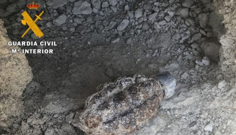 La granada fue encontrada en un camino rural cerca de Zaratán