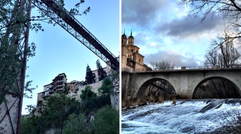 A la izquierda, puente de San Pablo; a la derecha, puente de San Antón.