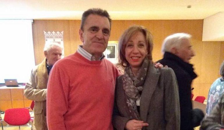 Pilar Sánchez, portavoz del PSOE en Arroyomolinos y José Manuel Franco, Secretario General del PSOE en la Comunidad de Madrid
