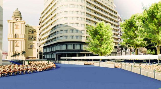 Así se verá el recorrido a su paso por la plaza de la Marina