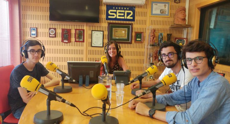 Tertulia con las cuatro mejores notas de Selectividad en la provincia de Cádiz en 2018