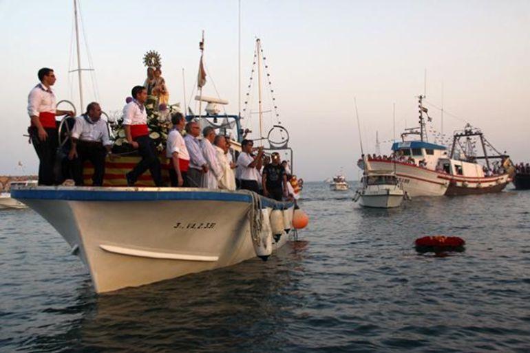 Imagen de la procesión marinera del Campello