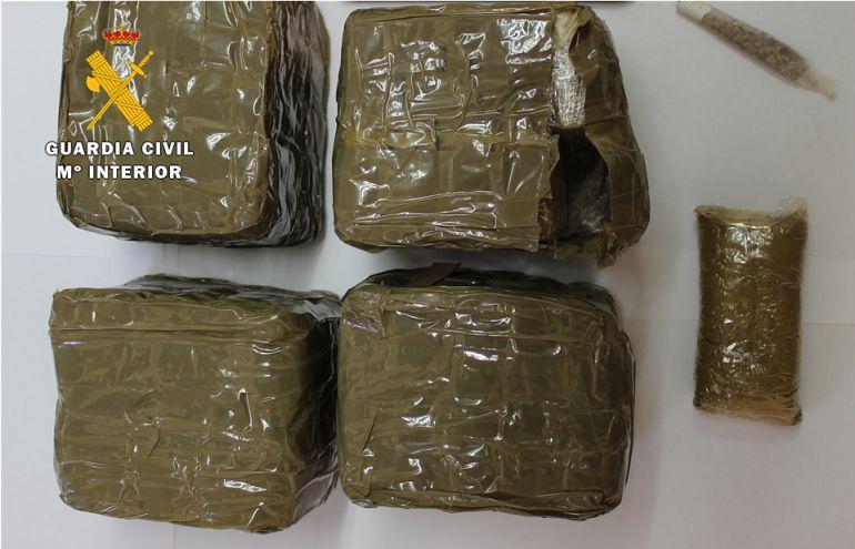 Drogas: Un chico de 20 años detenido con 2 kilos de polen de marihuana