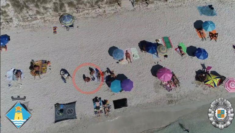 Vendedores 'cazados' con el dron
