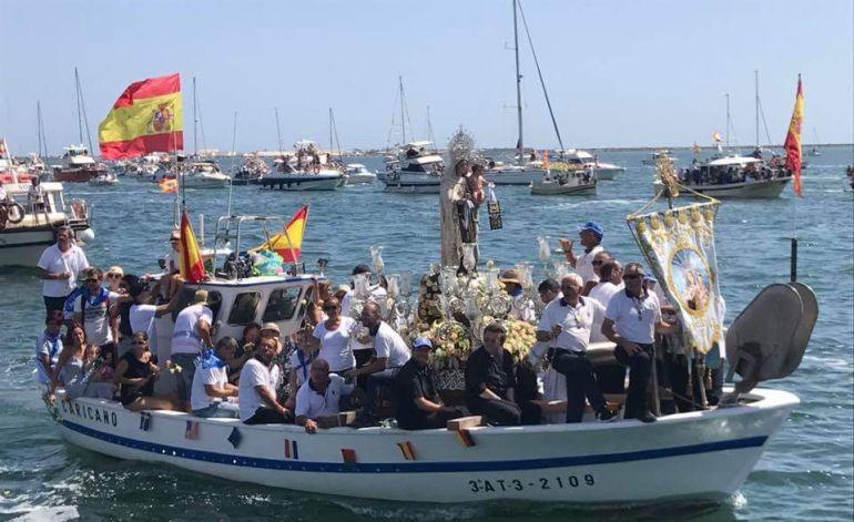 Imagen de archivo de una procesión de la Virgen del Carmen
