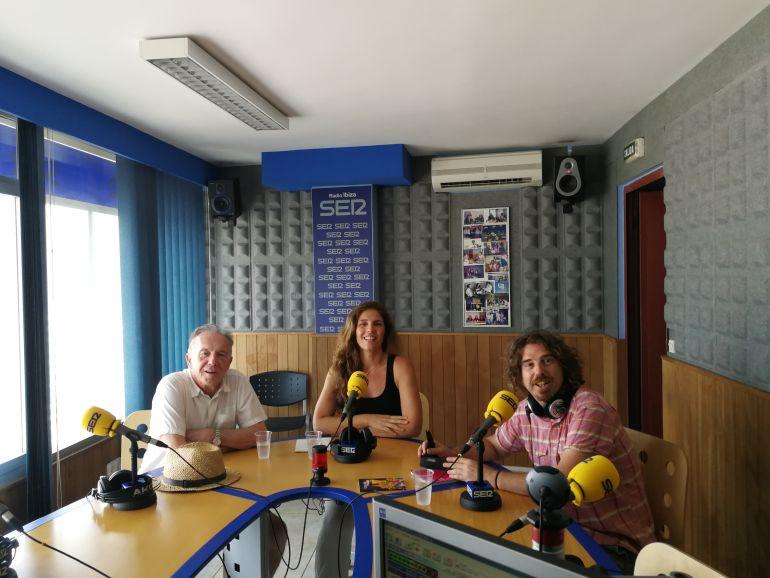 Julio Herranz, Luciana Aversa y Alberto Ferrer