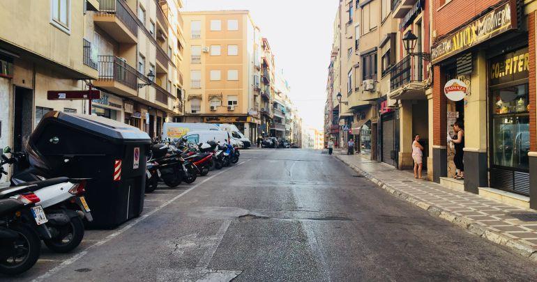 La calle Doctor Eduardo Arroyo, en una instantánea tomada este mismo viernes