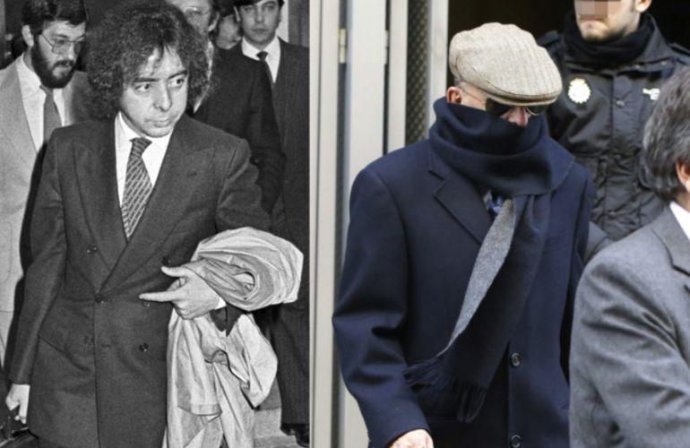 El exinspector y excomisario del Cuerpo Superior de Policía Antonio González Pacheco más conocido por su apodo de 'Billy el Niño', en una imagen de 1981 (izquierda) y otra de 2013 (derecha) / EFE