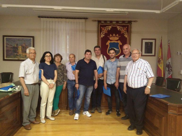 Alcaldes de los municipios que integran la recién constituída Asociación Sierra de Ayllón