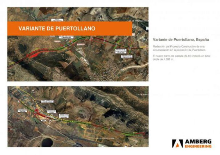 Documentos del Proyecto de la Variante Norte de Puertollano desarrollados por Amber Engineering