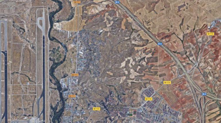 Vista aérea de Paracuellos de Jarama