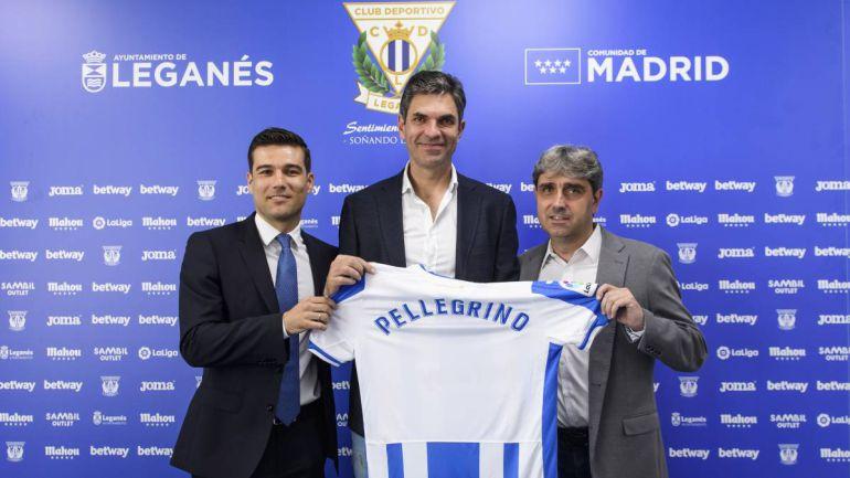 Mauricio Pellegrino el día de la presentación en Leganés.