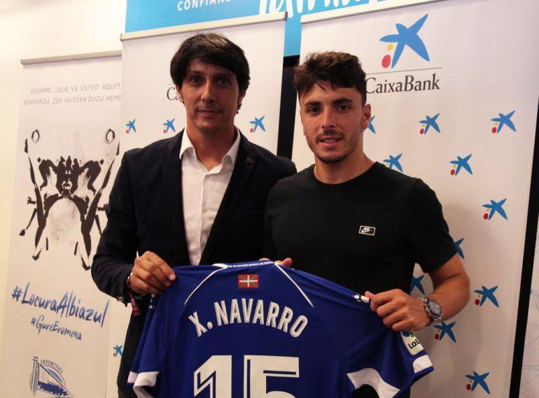 Sergio Fernández y Ximo Navarro en la presentación de la Caixa.