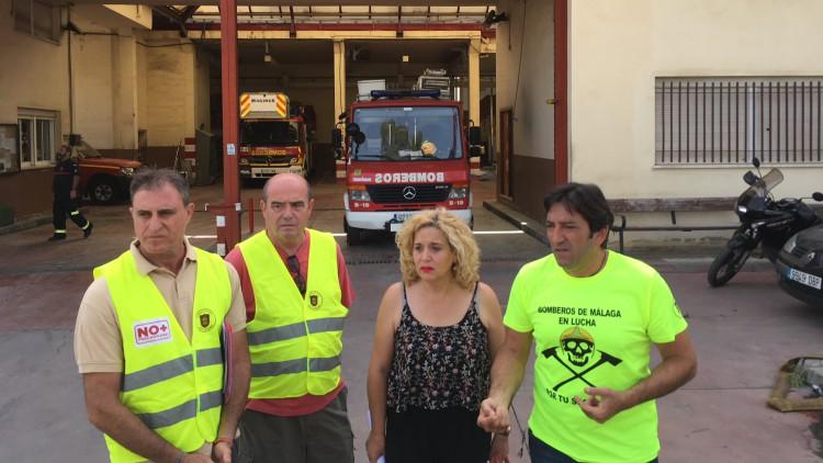 IU denuncia la falta de medios de bomberos y acusa al equipo de gobierno del PP de intentar criminalizarles