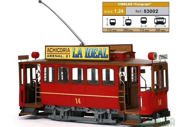 Modelo de tranvía 'cangrejo', el que se proyectó para Cuenca.