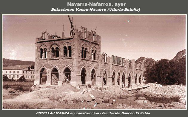 Así eran (y así están en la actualidad) las estaciones del tren Vasco-Navarro entre Vitoria y Estella