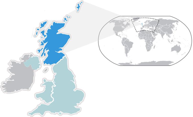 Mapa Independencia Escocia