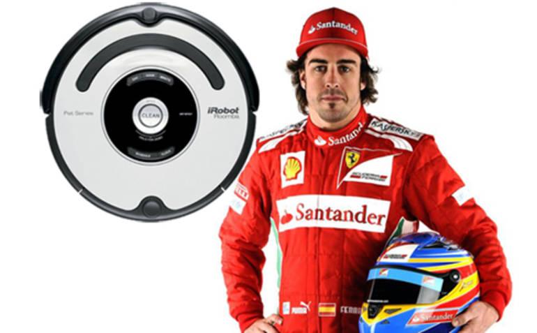 Fernando Alonso competirá a bordo de una aspiradora Roomba