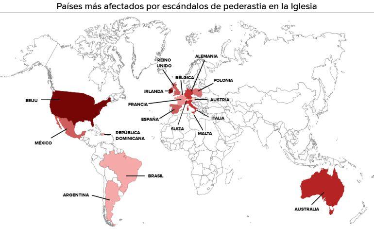 El mapa de los abusos sexuales en la Iglesia Católica: El mapa de la pederastia en la Iglesia