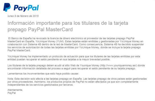 Retenido el dinero de los usuarios de las tarjetas PayPal y otras