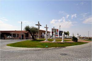 La rotonda del Calvario en Navalcarnero.