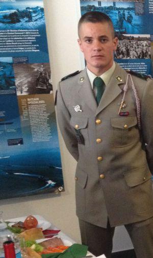 El español Miguel Ángel, en el Museo de la Legión Extranjera
