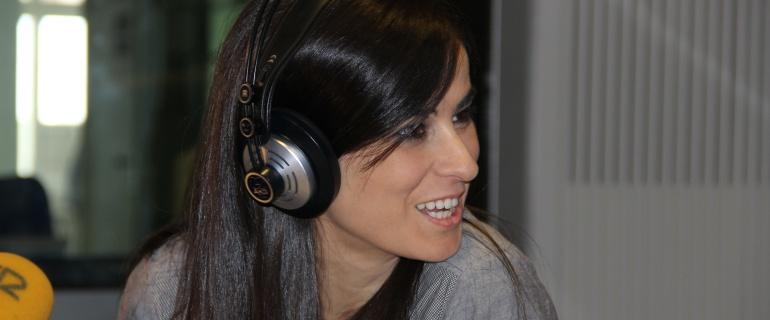 Inés la Maga, en los estudios madrileños de la Cadena SER.