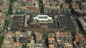 Imagen aérea de las instalaciones del Hospital Clinic de Barcelona