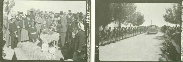 Dos imágenes de Ramala en 1940, durante el Mandato Británico