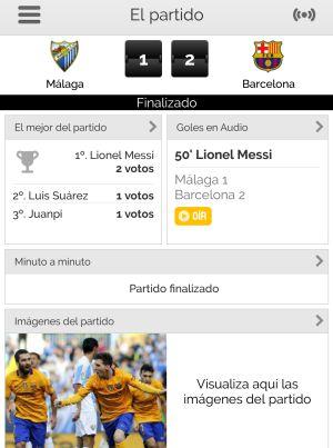 Los directos de la App de Carrusel te cuentan el minuto a minuto del partido y te ofrecen las mejores imágenes del choque.